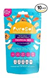 Tropical Mix Sun Dried Fruit Snacks | PuroSol Dried Fruit Tropical Mix (Pack of 10) | No Sugar Added, Tropical Fruit Snacks, Gluten Free, Vegan | 1.5oz Healthy Snack Bags