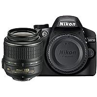 Nikon D3200 Appareil photo numérique Reflex 24.2 Kit Objectif AF-S DX VR II 18-55 mm Noir (Reconditionné Certifié)