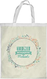 time romantic moment Printed Shopping bag, Large Size