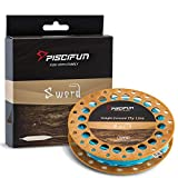 Piscifun Sword Weight Forward Floating Fly Fishing Line with Welded Loop WF6wt 100FT Sky Blue