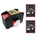 2-Deck Automatic Card Shuffler with (2) Decks of Bicycle Tragic Royalty Playing Cards