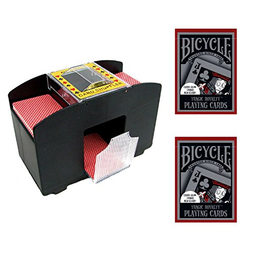2-Deck Automatic Card Shuffler with (2) Decks of Bicycle Tragic Royalty Playing Cards by Jobar