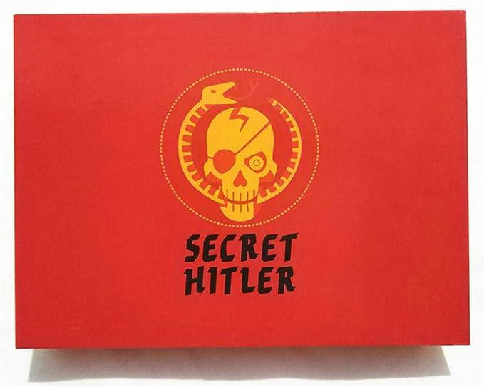 VJUKUB Secreto Rojo Hitler Juego de Mesa Anti-Humano Tarjeta Secreto Hitler inglés edición Puzzle Juego de una Tarjeta de Identidad Oculta Juegos para la Familia y los Amigos del Partido: Amazon.es: Deportes
