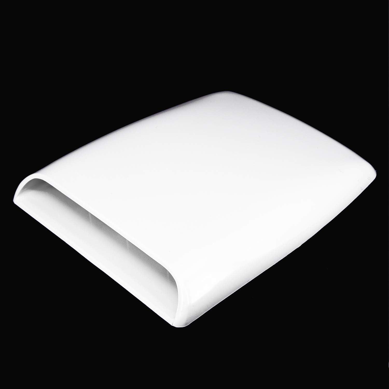 Universal Car Decorative White Color Bonnet Hood Scoop Air Flow Intake Vent Cover For Car Decoration