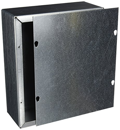 Nema 4 X Junction Boxes (Wiegmann SC101204GNK SC-Series NEMA 1 Screw Cover Wallmount Pull Box, No Knockouts, Galvanized Steel, 12