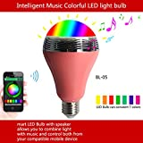 OnO® WiFi Smart Light Bulb Multicolored E27 LED with Emergency Mode for iPhone Samsung Nokia Lumia Oneplus Xiaomi Huawei(Pink)