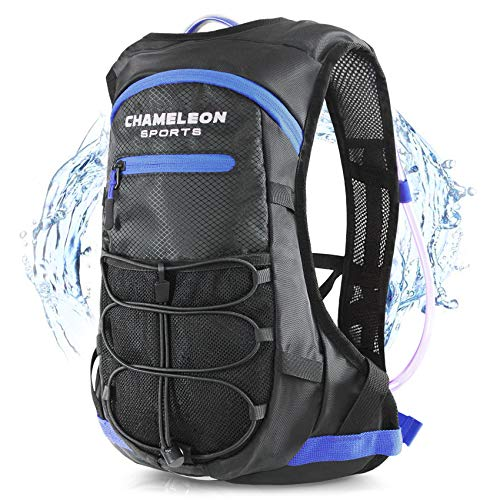 - Chameleon Hydration Backpack - Waterproof Breathable Camel Water Bag Pack for Trail Running Biking Cycling and Hiking