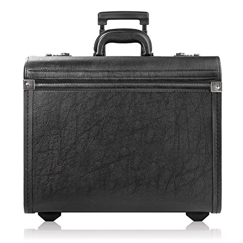 Solo Rolling Catalog Case, Wheeled Pilot Bag in Black by SOLO