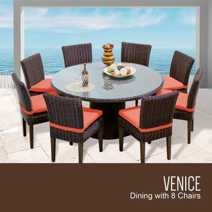 """TK Classics Venice 60"""" Outdoor Patio Dining Table with 8 ..."""