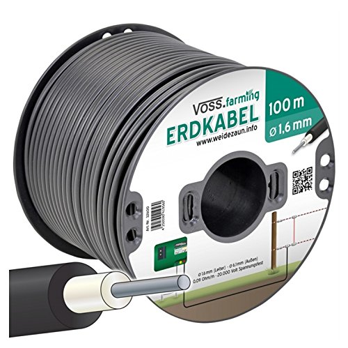 VOSS.farming 100m Fence Connection & Lead Out Cable 1.6mm