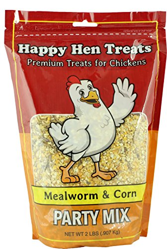 Happy Hen Treats Party Mix Mealworm and Corn, 2-Pound (Chicken Treats)