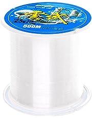 Sicai- Fil de pêche monofilament en nylon transparent, 500mètres - Environ 0,26mm de diamètre