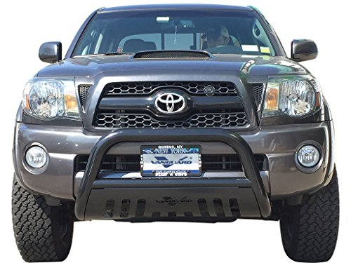 VANGUARD Off Road VGUBG-0579BK Toyota Tacoma 2005-2015 Bumper Guard Black Bull Bar with Skid Plate