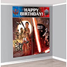 Lunarland STAR WARS VII Episode 7 SCENE SETTER Wall Decoration Birthday Party Backdrop NEW