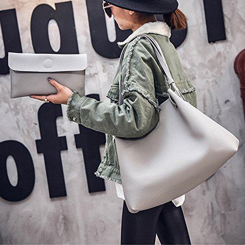 femme clair sac simple mode voyage de d'épaule petit espeedy capacité grande de avec Casual Gris caminar de Sacs Shopping de de cuir qxEBAAf