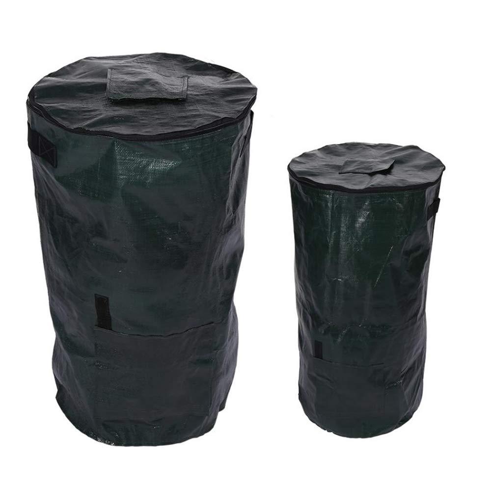 TOPYUO Compost Bag,2Size Ferment Kitchen Waste Disposal Homemade Organic Compost Bag Kitchen Garden Litter Storage