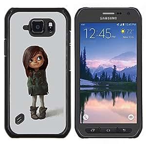 Stuss Case / Funda Carcasa protectora - Brown Mère Fille Kid - Samsung Galaxy S6Active Active G890A