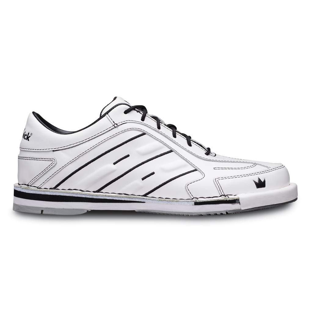 Brunswick Bowling Products Team Mens Bowling Shoes- White 8 M US, White, 8