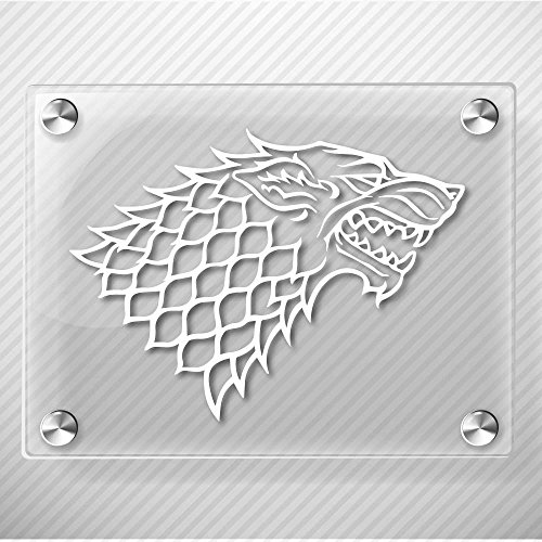 Starks Banner from The Game of Throne Decal Sticker for Car Window, Laptop, Motorcycle, Walls, Mirror and More. # 522 (4