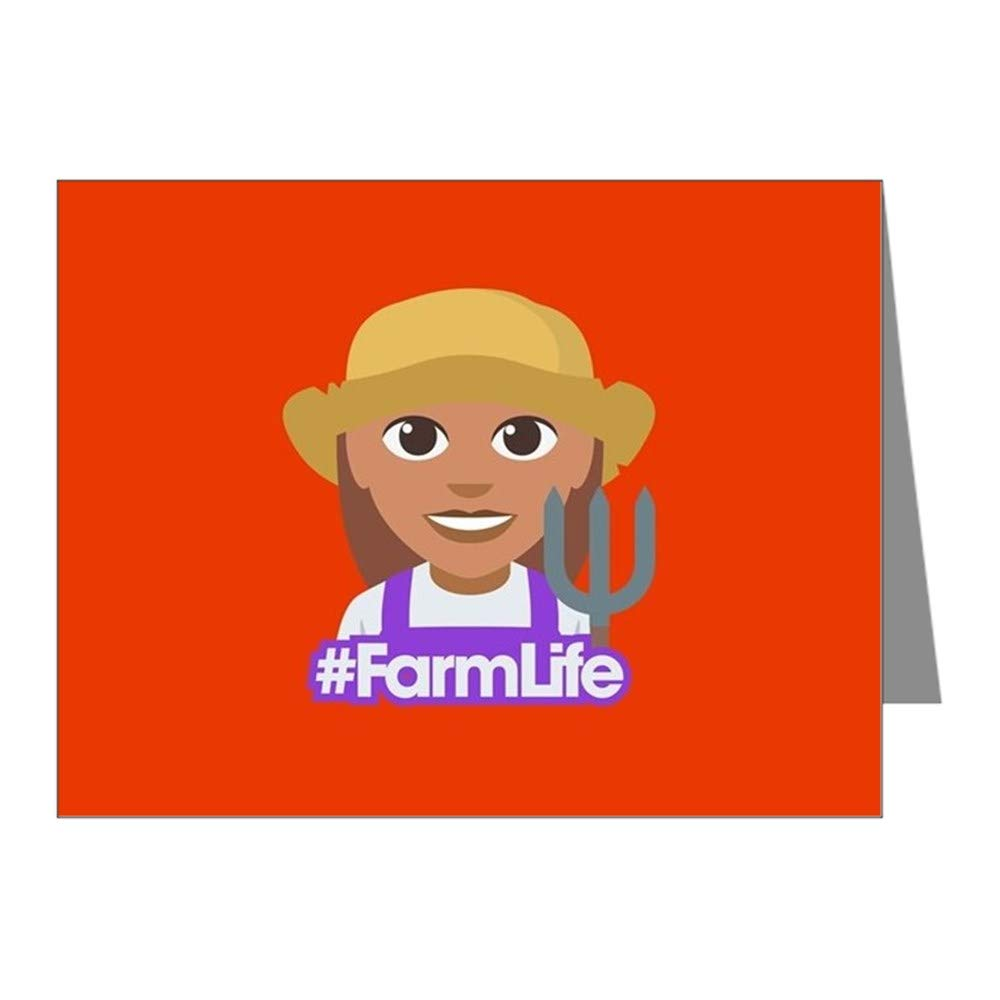 CafePress Hashtag Farmlife Blank Note Cards (Pack of 20) Glossy