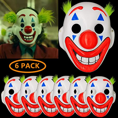 The Best Costume For Halloween 2019 (2019 Joker Mask Arthur Fleck Masks Cosplay Movie Clown Halloween Costume-6)