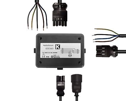 Power Splitter Box 2m Anschlussleitungen 3er Verteilerbox 51