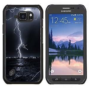 "Be-Star Único Patrón Plástico Duro Fundas Cover Cubre Hard Case Cover Para Samsung Galaxy S6 active / SM-G890 (NOT S6) ( Trueno Tormenta eléctrica Cielo Nocturno Negro"" )"