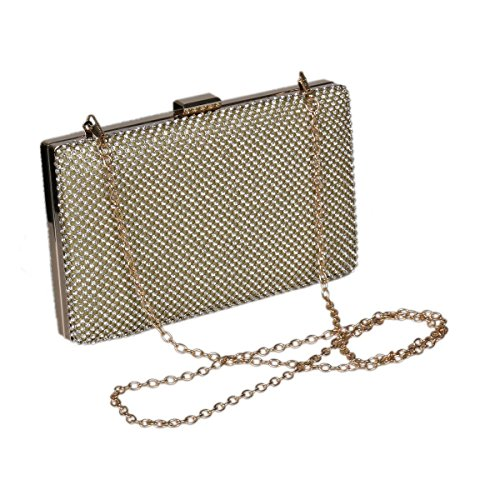 Evening Damara Bag Shiny Womens Clutch Rectangular Black Hardware Crystal WT7TI6nBq