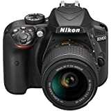 Fotocamera Nikon DSLR Kit D3400 + AF-P DX 18-55 non VR, 24,2 Megapixel, Nero