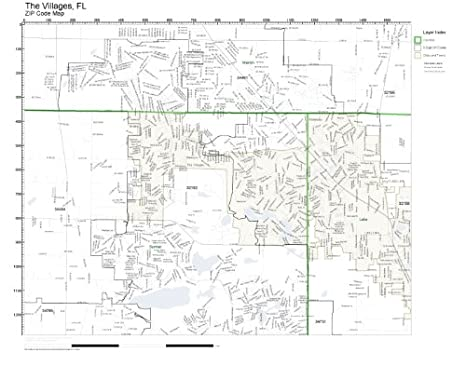 Amazon.com: Working Maps Zip Code Wall Map of The Villages ...