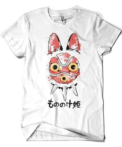 Camisetas La Colmena 2032-Camiseta Premium, Studio Ghibli - Wolf Girl Mask (Dr.Monekers): Amazon.es: Ropa y accesorios