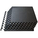 "ProSource Puzzle Exercise Mat 13 mm (½""), EVA Foam Interlocking Tiles Protective Flooring for Gym Equipment and Cushion for Workouts (3 Colors Available)"