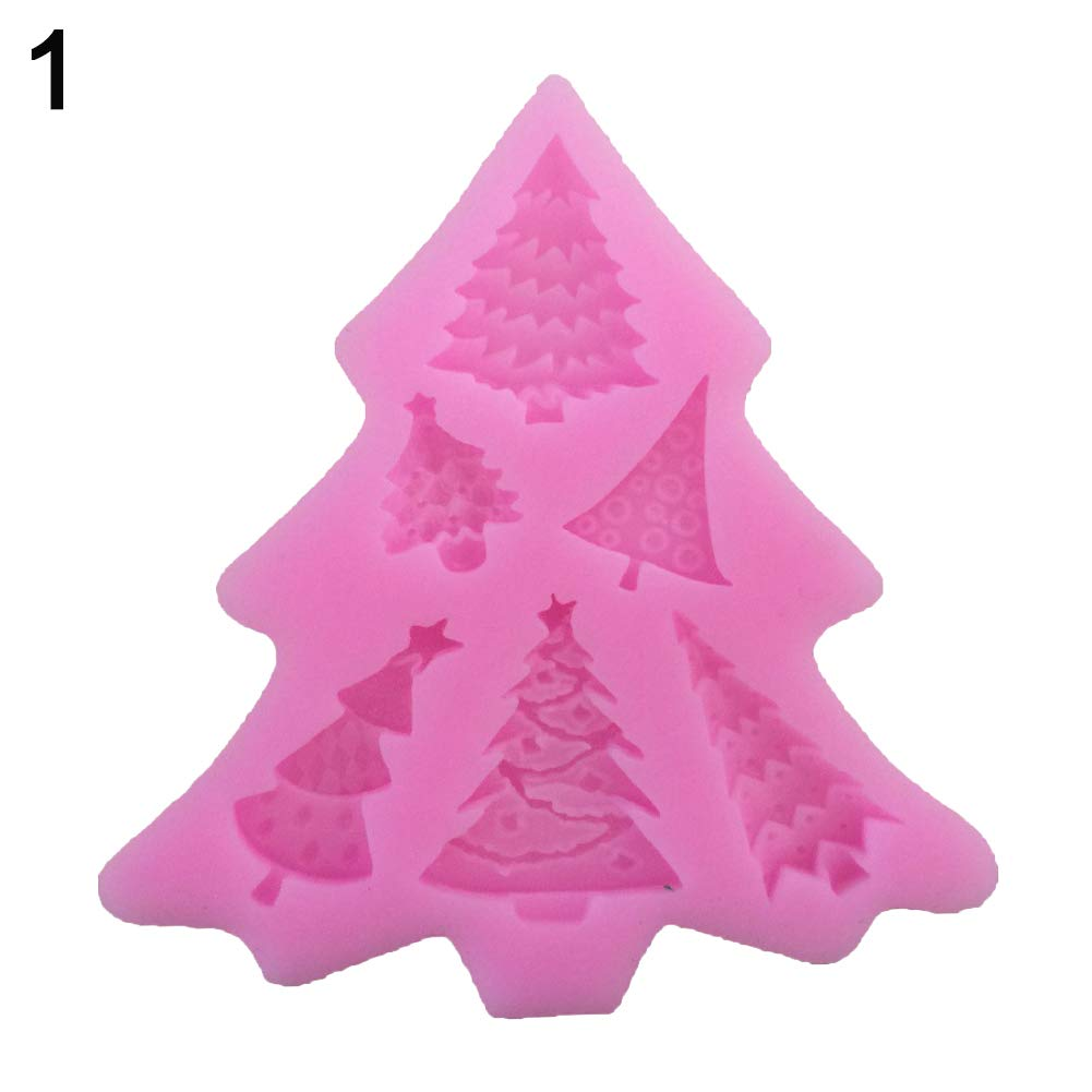 Psmyjak cake Mold, Christmas Tree Santa Elk slitta cake Mold Chocolate decorativo fondente di cottura strumento 1