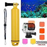 Koroao 5PCS Professional Diving Lens Filter Kit with Floating Hand Grip for GoPro Hero 3+ 4 Hero+, Hero +LCD Cameras