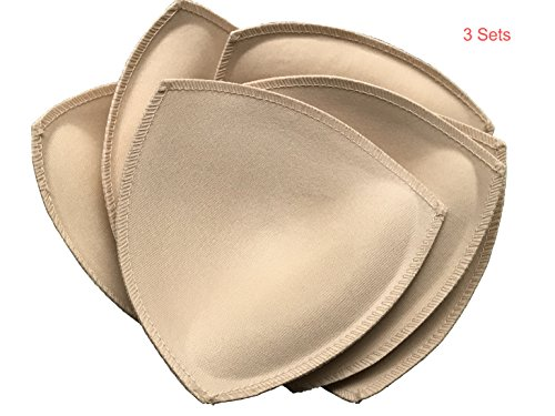3 Pairs Removable Bra Inserts Sport Swimwear Bra Pads (4.73X5.12