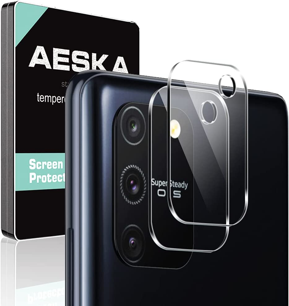 [2 Pack] Aeska Camera Lens Protector for Samsung Galaxy S10 Lite Tempered Glass [High Definition][Case Friendly] Scratch Resistant for S10 Lite