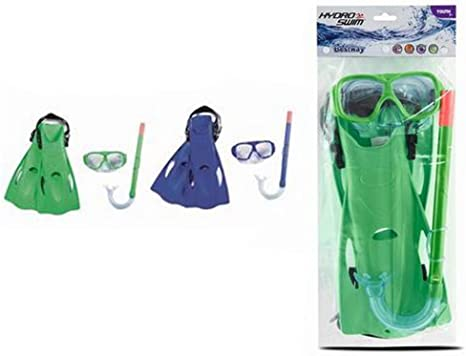 piscina o playa Set de Snorkel Gafas de Buceo con tubo de aire de silicona y aletas de nataci/ón para Snorkel Mar abierto Talla 37-41 Gafas de buceo y tubo con aletas para buceo natacion Color Verde