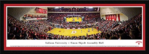 Indiana Hoosier Basketball - Blakeway Panoramas College Sports Posters with Select Frame
