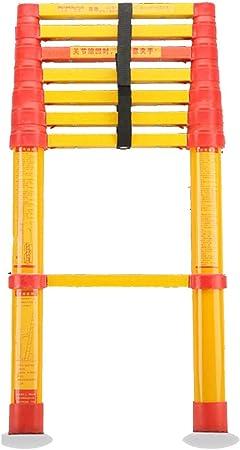 ZAQI Escalera Extensible Escalera telescópica Escalera de extensión de Fibra de Vidrio Escaleras telescópicas Ligeras, Altas y no conductoras para Trabajo Pesado, para electricistas, 150 kg: Amazon.es: Hogar
