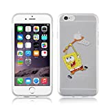 iPhone 5/5s Spongebob Silicone Phone Case / Gel Cover for Apple iPhone 5s 5 SE / Screen Protector & Cloth / iCHOOSE / Spongebob Net