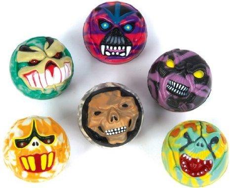 [1 Dozen Fearsome Halloween Monster-Face Balls (each 45mm/1.75