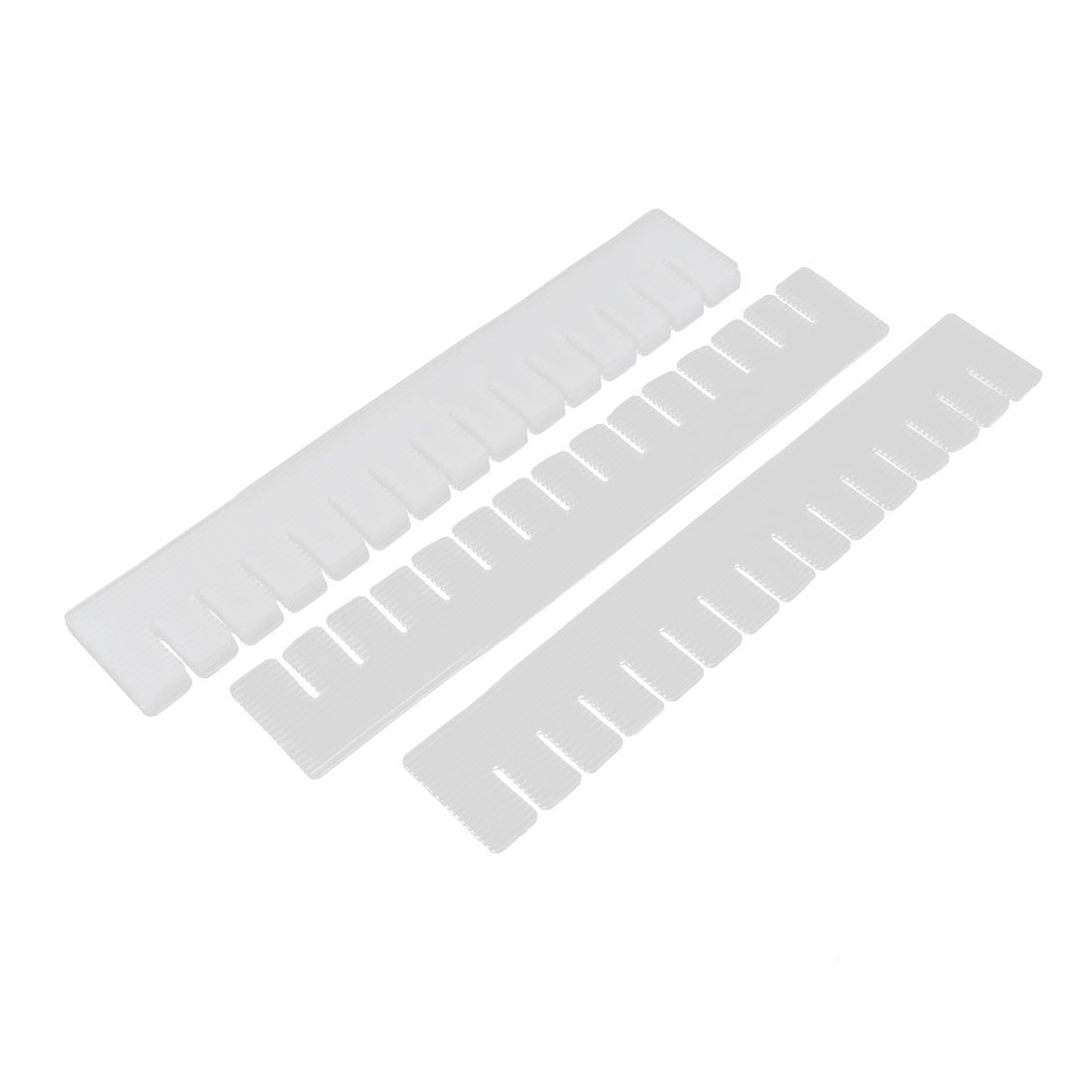 uxcell Plastic DIY Grid Drawer Divider Household Organizer 6 Pcs Off White a16012900ux0325