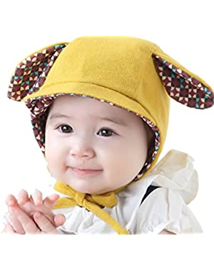 New Yellow/Pink Cute Ear Hat Soft Baby Girls Boys Caps Winter Warm Headwrap accessories
