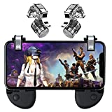 Fortnite PUBG Mobile Controller - Mobile Game Controller, Cellphone Game Trigger, Battle Royale L1R1 Sensitive Shoot and Aim Gift for Kids (4 Triggers+2 Grips)