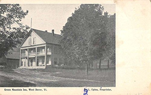 West Dover Vermont Green Mountain Inn Street View Antique Postcard K87881