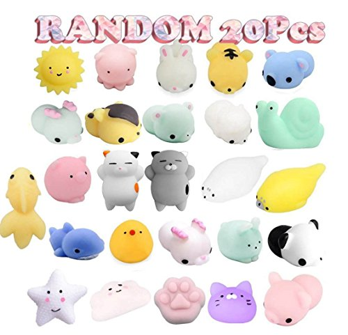 Birthday Party Favors Pack for Kids - 20 Pcs Mochi Squishies Bulk Toy Assortment for Goodie Bags Fillers Pinata Prizes Classroom Rewards Carnival Stuffers Easter Egg]()