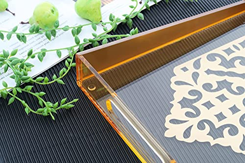 Acrylic Clear Serving Tray with Handles,11