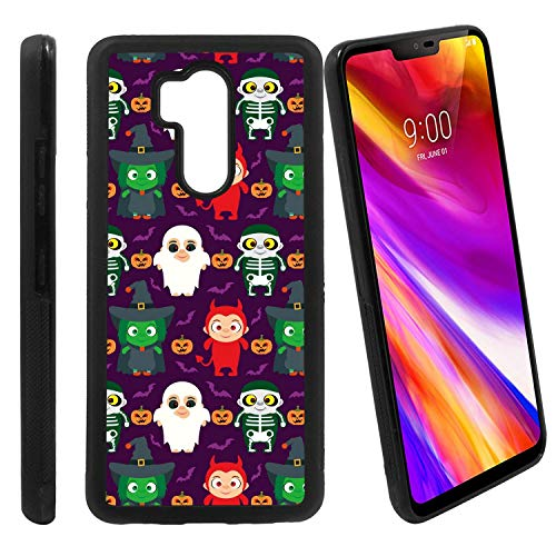 [Funny Kids in Halloween Costume] Compatible with LG G7 ThinQ/LG G7 One / G7 Fit / G7+ / G710 / LG X5, Non-Slip Soft Rubber Side & Hard Back Case Cover Shell Skin ()