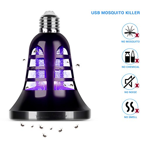 AUKUK 2018 Upgraded Bug Zapper Lantern - 2 IN 1 Mosquito Killer Lamp & Night LED Light - USB and Solar Charging - Lightweight,No noiseand Portable for Indoor&Outdoor, Home&Camping by AUKUK (Image #7)