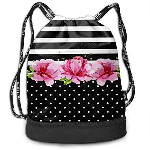 (Drawstring Bag, Colorful Polka Dot Bags, Gym Bag Sackpack Sports Backpack for Men Women Girls)